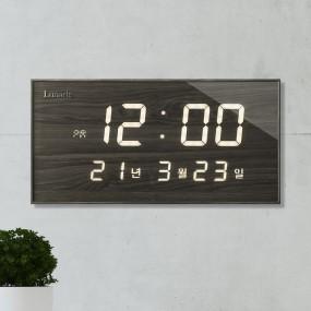 국산 루나리스 FM수신 데이트 LED 전자벽시계 이미지
