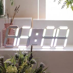 국산 루나리스 프라임 3D LED 인테리어 벽시계 LG전구 38cm 이미지