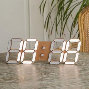 국산 루나리스 골드 3D LED 인테리어 벽시계 LG전구 38cm 이미지