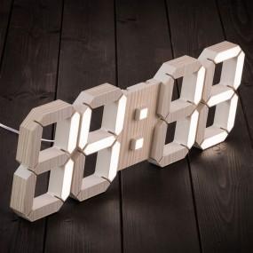 국산 루나리스 우드 3D LED 인테리어 벽시계 LG전구 38cm 이미지