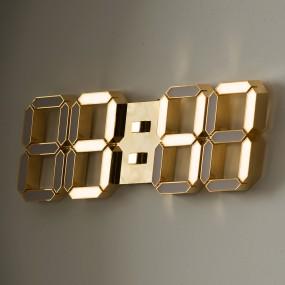 국산 루나리스 24K 금도금 샴페인골드 3D LED 벽시계 LG전구 38cm 이미지