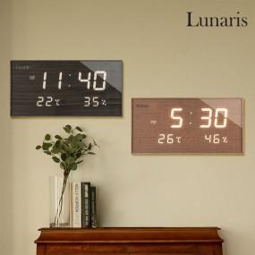 국산 루나리스 FM수신 온습도 LED 전자벽시계 이미지