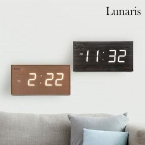 국산 루나리스 FM수신 클래식 LED 전자벽시계 이미지