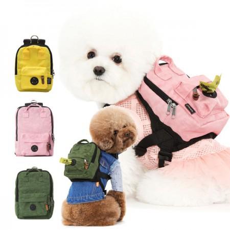 스니프 워싱 강아지 백팩 S / 강아지 가방 이미지