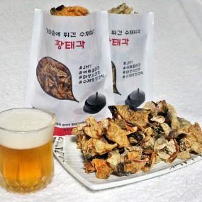 이시영이 반한 청정동해 가마솥에 튀긴 수제 황태껍질튀각 황태각 간단한 술안주 오리지날/스파이시 50g 이미지