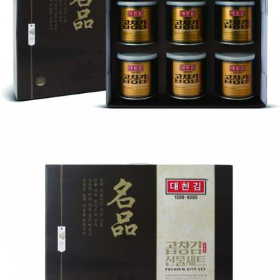 [추석PICK][대천김][S706호]명품 프리미엄 곱창김 캔김세트(30gx6캔)