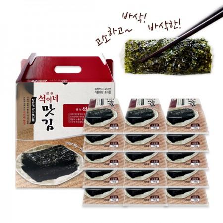 [지팔자]광천 석이네 원초90% 도시락김/전장김/무가미김