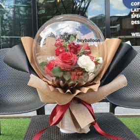 [헤이벌룬] 장미꽃다발풍선 스탠드 이미지