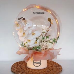[헤이벌룬] 호접란 꽃다발 LED스탠드 이미지