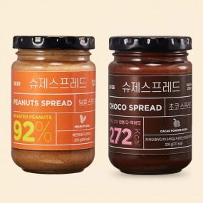 슈제 스프레드 초코/땅콩버터 200g 무설탕 알룰로스 저칼로리 저당 쨈 스프레드 이미지