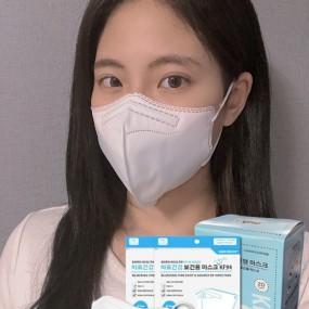 [KF-94/대형/100매][무료배송]바로건강 보건용 2D 귀편한 새부리형 마스크 이미지