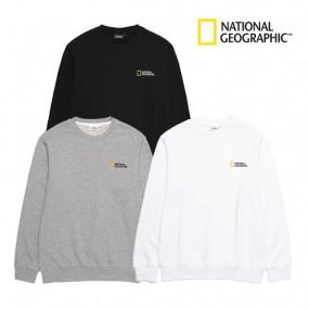 [내셔널지오그래픽] 21SS 베이직 맨투맨 티셔츠 남녀공용 B203USW020 이미지