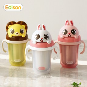 [에디슨]유아 흘림방지 이중스텐 빨대컵 시리즈2 이미지