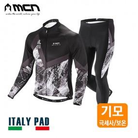 MCN 그리세우스 겨울자전거옷세트 기모져지+패드바지 이미지