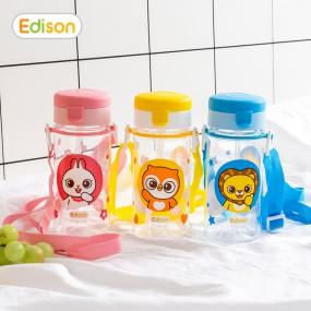 [에디슨]유아 아기 흘림방지 트라이탄 빨대컵 물컵 이미지