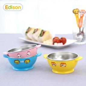 [에디슨]프렌즈 휴대용 유아식기 스텐 공기 볼 그릇 이미지