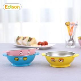 [에디슨]프렌즈 휴대용 유아식기 스텐 대접 볼 그릇 이미지