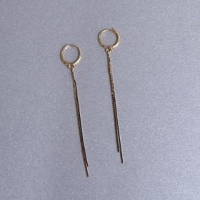 비앤비골드 14K/18K 귀걸이 롱 체인 원터치 귀걸이 BNE3032 이미지
