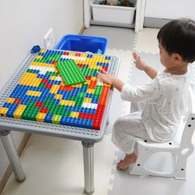 듀플로 호환 유아책상세트 (듀플로책상+입식의자) 이미지