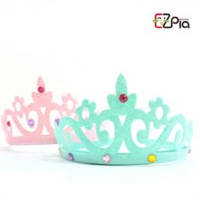 [이지피아] 펠트 왕관 머리띠_민트/핑크 이미지