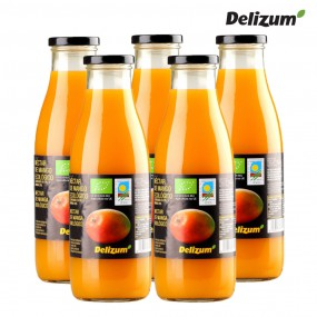 델리줌 유기농 맛있는 망고 퓨레 주스 음료 750mlx5 이미지