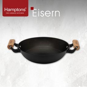 [Hamptons] 햄튼 아이젠 무쇠 인덕션 후라이팬(28cm궁중) 양수웍 HTES-28W 이미지