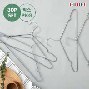 [한샘]  PVC 옷걸이 30P / 튼튼한 원목옷걸이 30P / 러버코팅 옷걸이 30P 택1 이미지