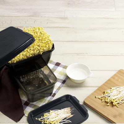 [이지앤프리] 콩나물 키우기 세트 (시루채반+뚜껑/쟁반+시루컵+시루용기) 이미지