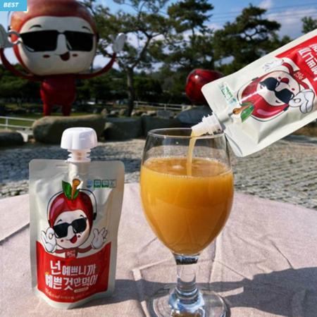 [핫딜][사과깡패] 발효사과 식초음료 (100ml X 30EA)<br>#넌예쁘니까예쁜것만먹어 이미지