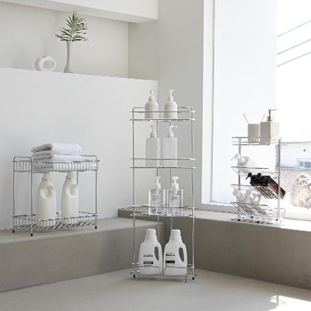 [로긴]딘트 올스텐 프리미엄 욕실선반 (코너/사각/샴푸정리대) 이미지