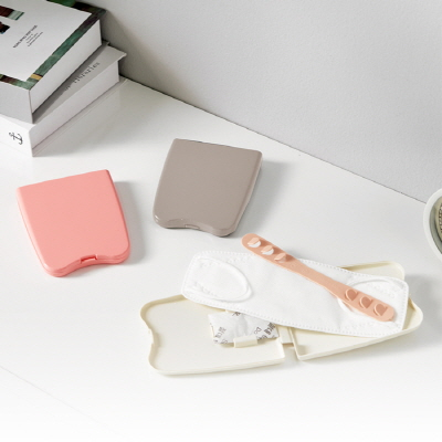[이지앤]이지 마스크 보관 케이스 2종 세트 (핑크+베이지)