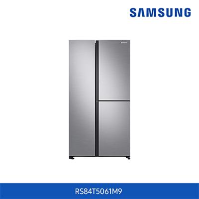 [삼성전자] 양문형 냉장고 846L / 3도어, 슬림 아이스메이커, 푸드 쇼케이스 (젠틀실버매트 색상)
