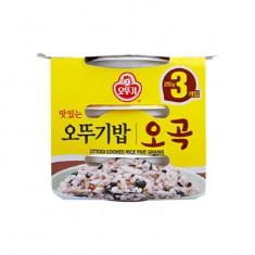 [아자마트] [오뚜기] 맛있는 오뚜기밥 오곡 3입 묶음(210g*3) 이미지