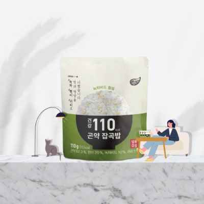 [슬림바디챌린지] (110kcal) 건강 녹차 곤약잡곡밥